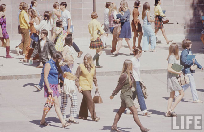 High school fashions of 1969