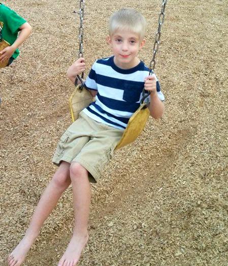 Hudson in a swing
